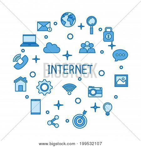internet concept wifi conncetion media network icons technology vector illustration
