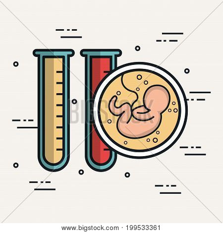 baby test tubes biology anatomy vector illustration