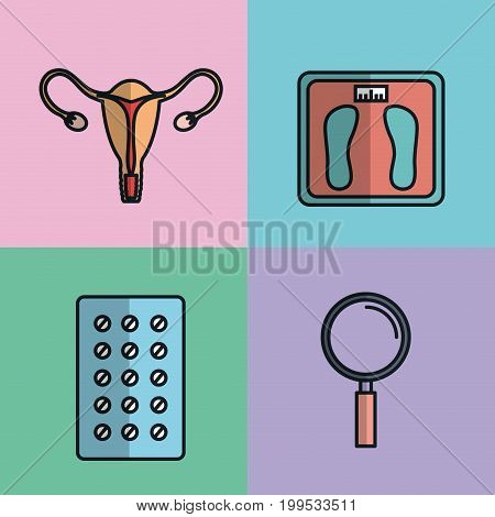 pregnancy maternity medical equipment elements health care vector illustration