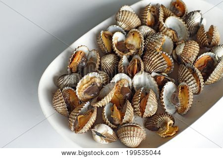 Steamed Blanched Clams Seafood