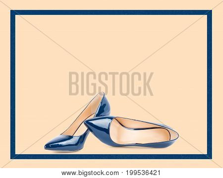 Beautiful Blue Classic Women Shoes