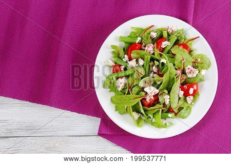 Healthy Low Calories Salad On Plate