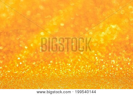 Golden light of golden bokeh background. Golden heaven light Hope and winner concept.