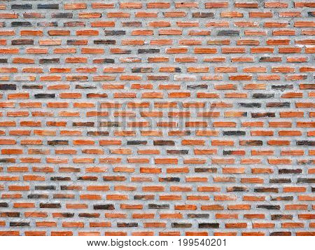 Old vintage red brick wall Texture Design. Empty red brick Background for Presentations and Web Design. A Lot of Space for Text Composition art image, website, magazine or graphic for design.