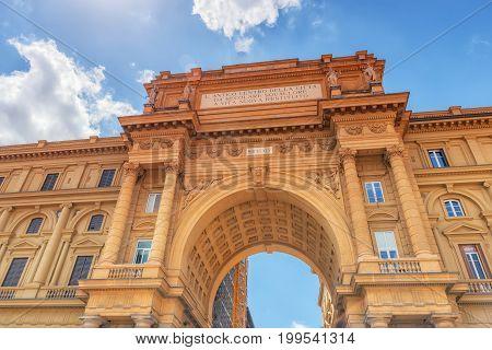 Square Of Republic (piazza Della Repubblica).piazza Della Repubblica Marks The Site Of The Forum, Th