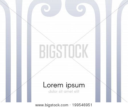 Background with frame from columns. Vector illustration