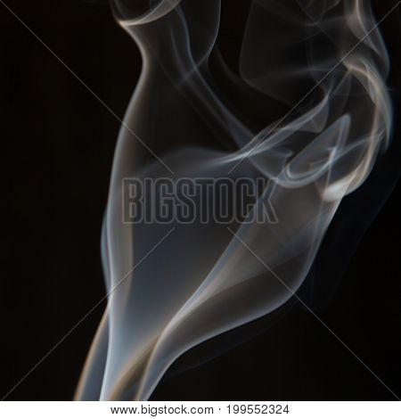 Smoke Coming Up From An Incense Stick