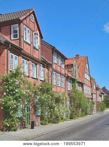 idyllic Old Town of Eutin in Holstein Switzerland,Schleswig-Holstein,Germany