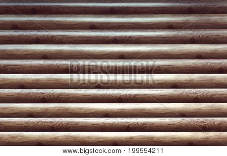 Modern Hand Hewn Natural Log Cabin Wall Facade