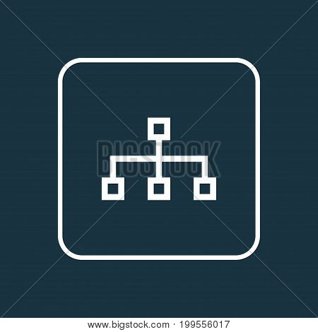 Premium Quality Isolated Structure Element In Trendy Style.  Hierarchy Outline Symbol.