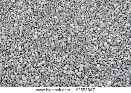 Pattern of crushed stone gravel texture and background.