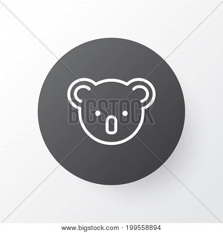 Premium Quality Isolated Marsupial Element In Trendy Style.  Koala Icon Symbol.