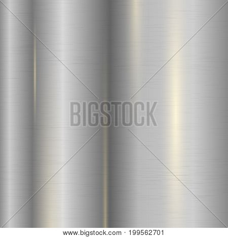 Realistic metal texture design concept with good texture high quality metal set descriptions vector illustration. Metal texture with some added highlights and reflections. Metal background