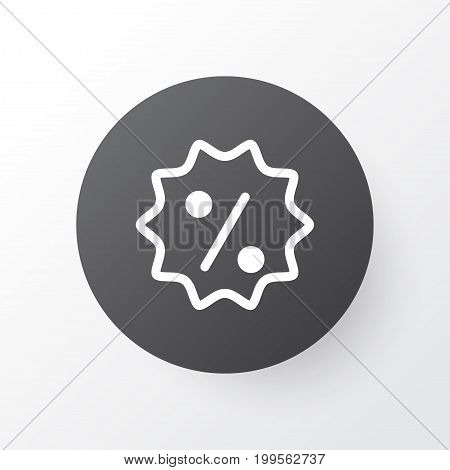 Premium Quality Isolated Rebate Sign  Element In Trendy Style.  Sale Badge Icon Symbol.
