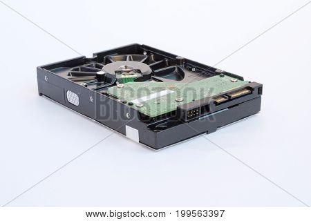 Hard disk drive isolated on a white background HDD