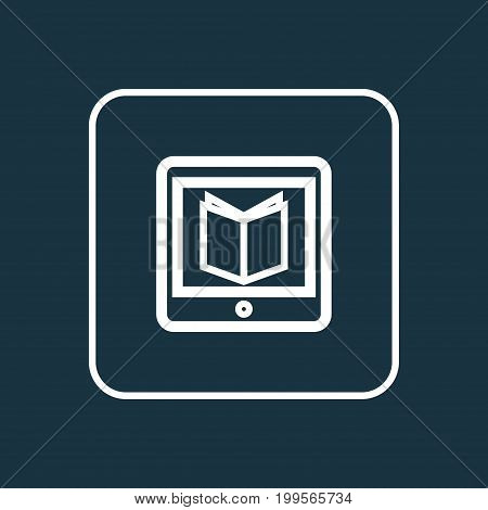 Premium Quality Isolated E-Reader Element In Trendy Style.  Learning Outline Symbol.