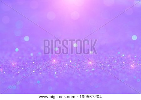 Soft Violet Or Purple Bokeh Light Is The Soft Blurred Circles Of Light White And Light Purple . Wint