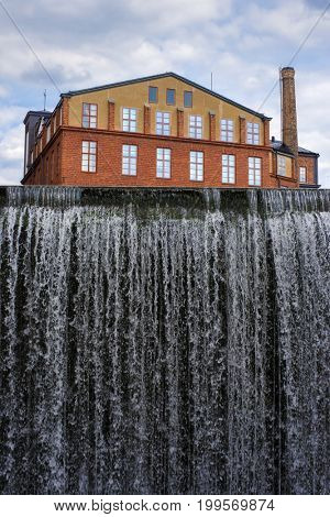 Spillway dam at Norrkoping, Sweden