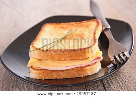 croque monsieur, sandwich toast