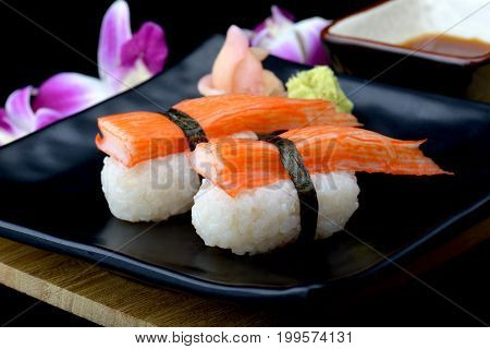 Crab Stick Sushi Or Japanese Kani Sushi .