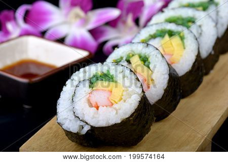 Sushi Roll Or Japanese Maki .
