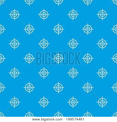 Target crosshair pattern repeat seamless in blue color for any design. Vector geometric illustration