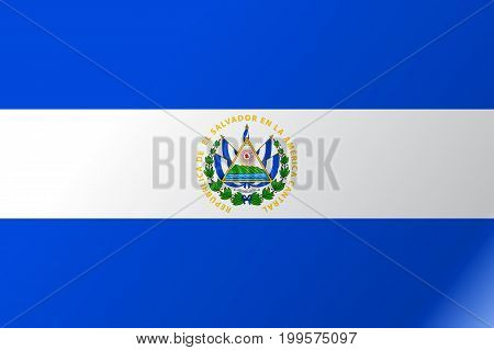 Flag El Salvador flat icon. State insignia of the nation in flat style on the entire page. National symbol in the form of a vector illustration