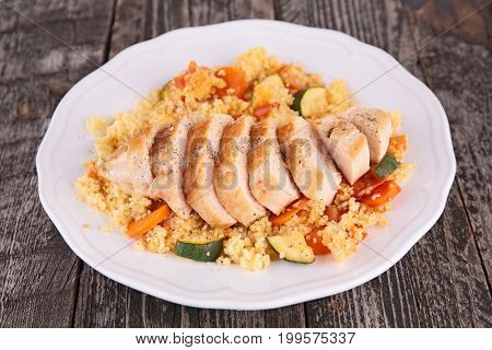 grilled chicken breast with couscous