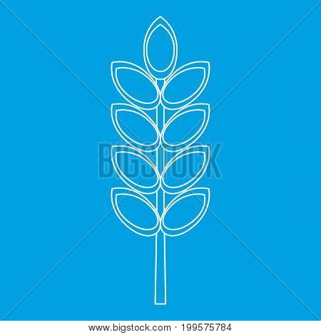 Inlet spike icon blue outline style isolated vector illustration. Thin line sign