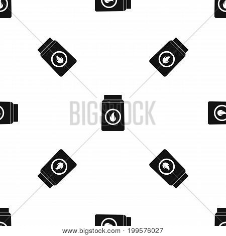 Matchbox pattern repeat seamless in black color for any design. Vector geometric illustration