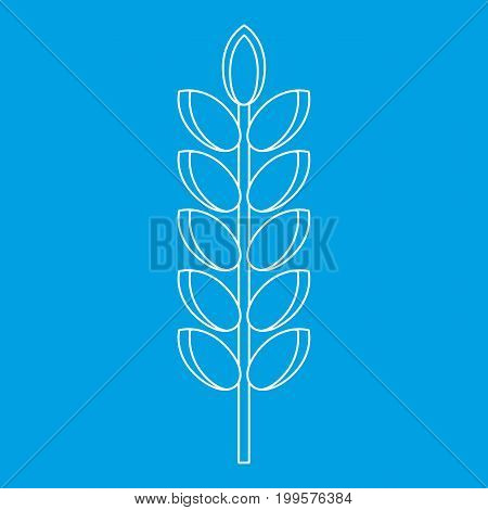 Big grain spike icon blue outline style isolated vector illustration. Thin line sign