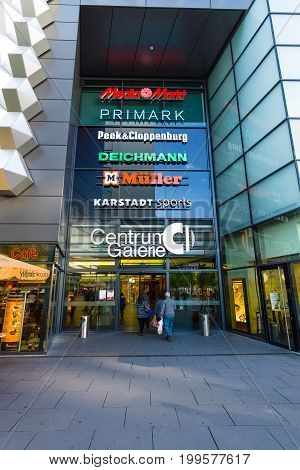 DRESDEN GERMANY - SEPTEMBER 09 2015: Shopping center