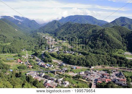 View From Risshaku Ji (yamadera) In Yamagata, Japan