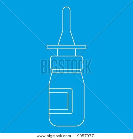 Nasal drops icon blue outline style isolated vector illustration. Thin line sign