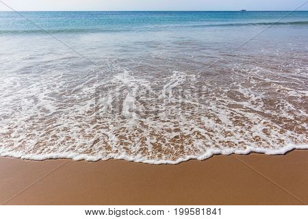 Beach shoreline wave wash ocean horizon landscape