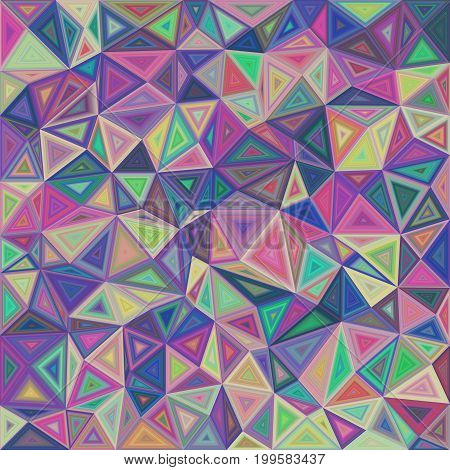 Multicolored chaotic vector triangle mosaic tile background design