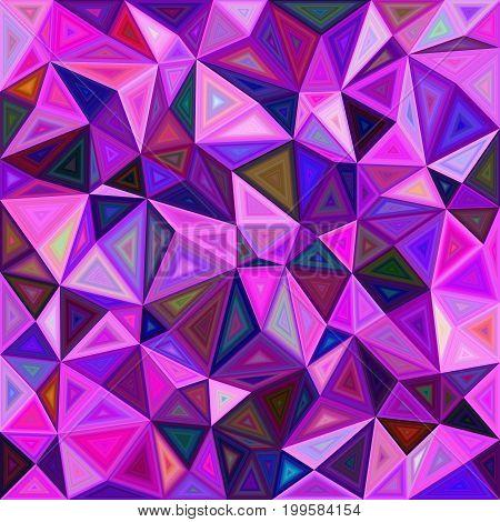 Irregular vector triangle mosaic tile background design