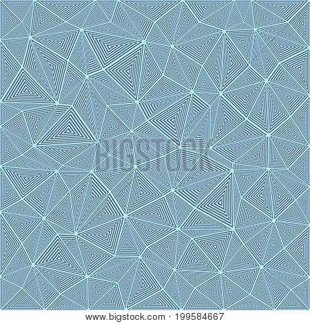 Striped triangle puzzle mosaic background - vector design