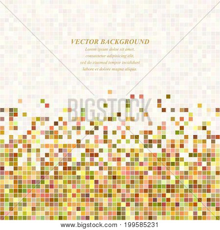 Colorful abstract pixel square mosaic background design