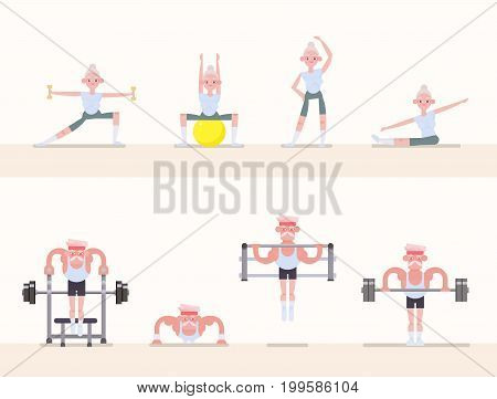 Sports - gymnastics, yoga, stretching, weightlifting, powerlifting, workout
