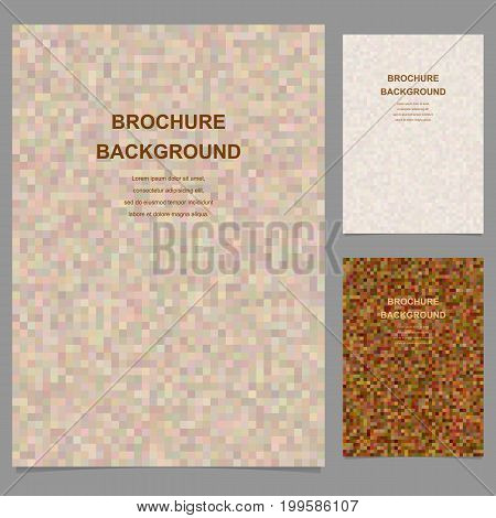 Abstract vector brochure template design from pixel squares