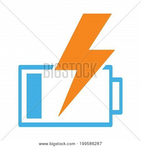 Battery Charging Icon On White Background
