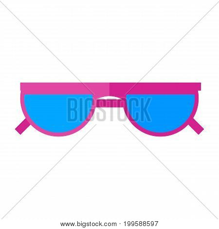 Sunglasses vector icon. Eyes protection on a sunny day.