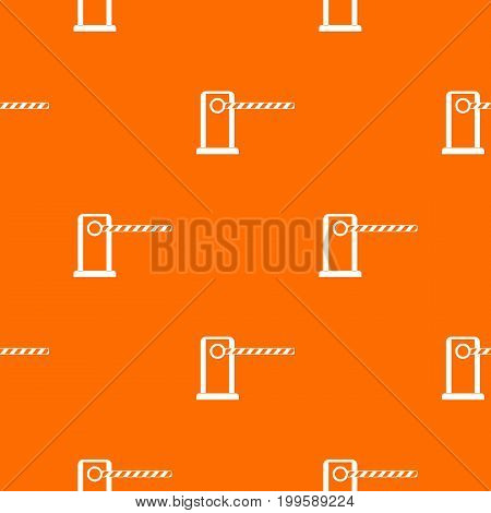 Parking entrance pattern repeat seamless in orange color for any design. Vector geometric illustration