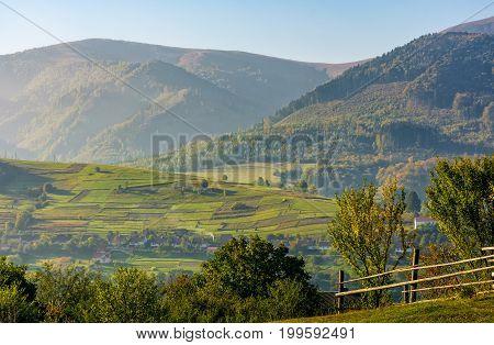 Beautiful Rural Area In Mountainous Countryside