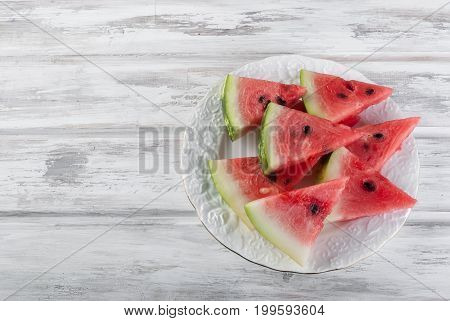 Watermelon Pieces In Bowl