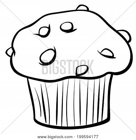 Muffin With Chocolate Coloring Book