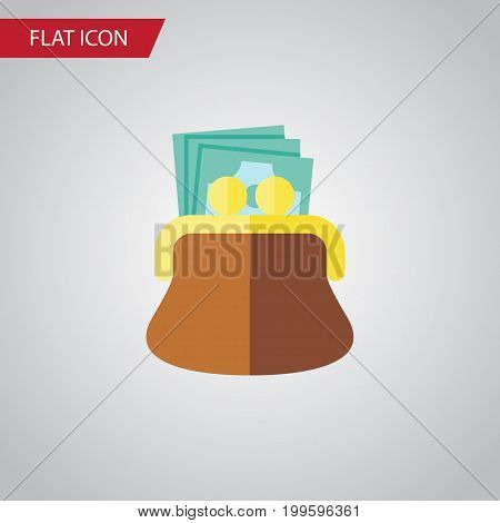 Pouch Vector Element Can Be Used For Pouch, Payment, Money Design Concept.  Isolated Payment Flat Icon.