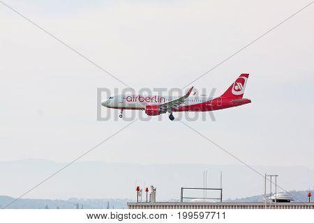 Airberlin Airplane During Landing