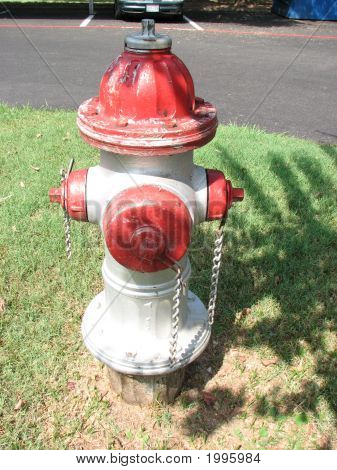 Red White Fire Hydrant